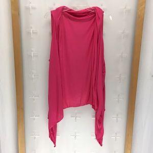 Tops - Women's Sleeveless Spandex Shrug Pink One-Size
